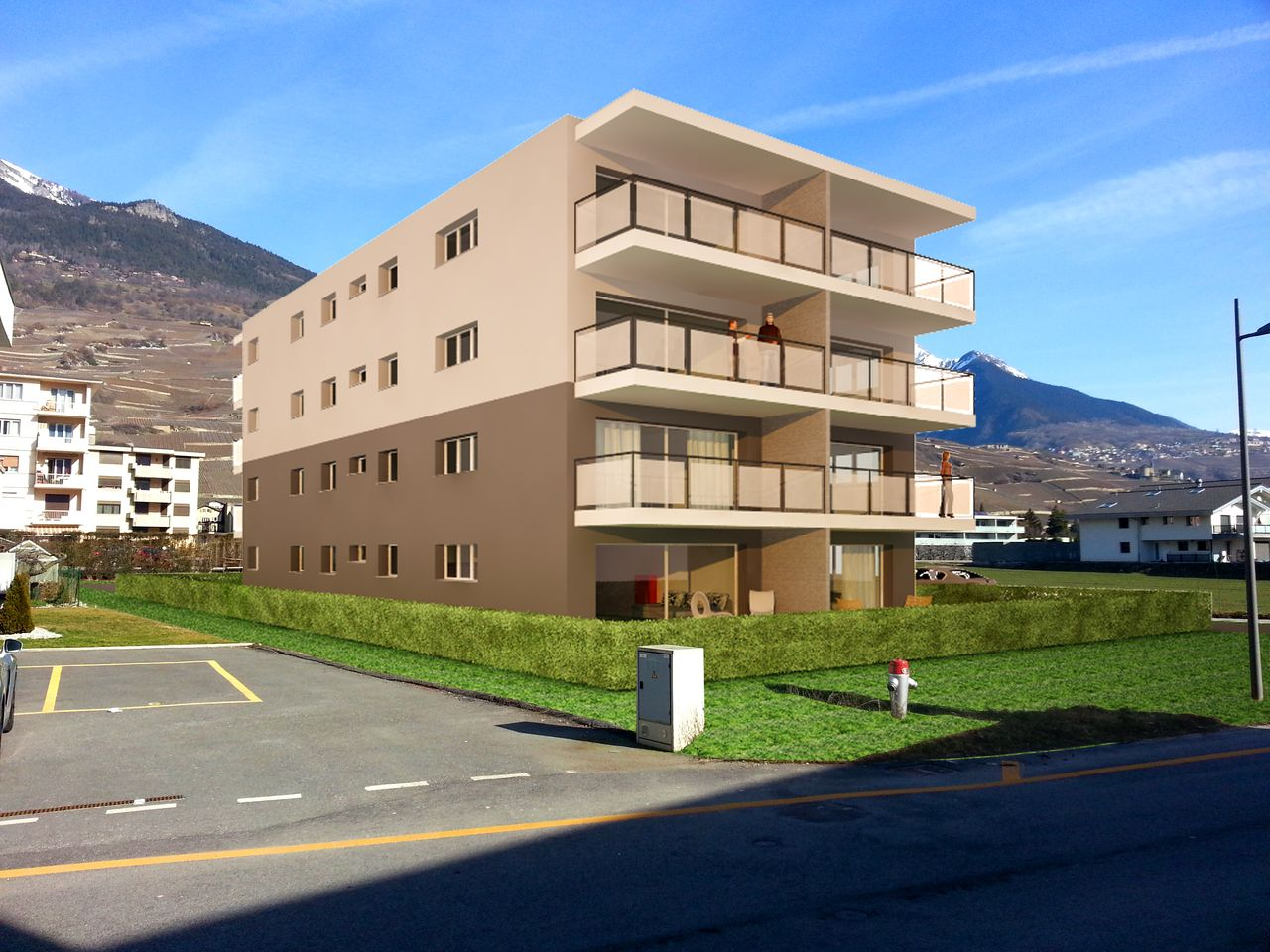 Appartements neufs 2.5 pces � V�troz, R�sidence LE CHANDRA