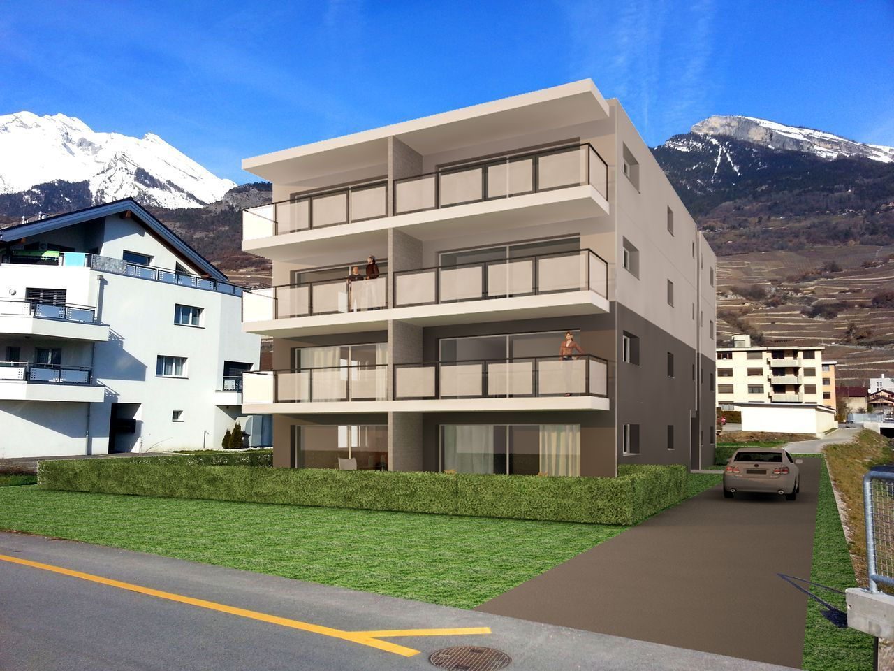 Appartements neufs 3.5 pces � V�troz, R�sidence LE CHANDRA