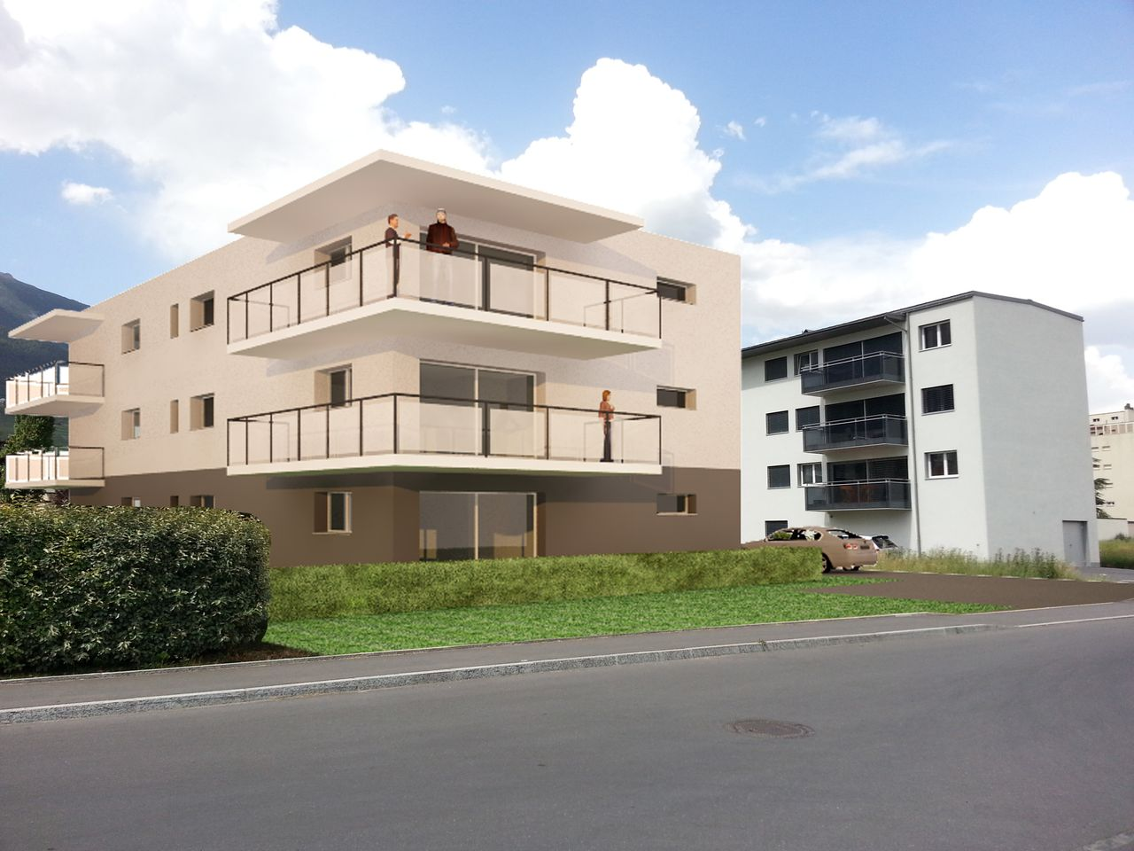 Appartements neufs 3.5 pces � Conthey, R�sidence LA BASTIDE